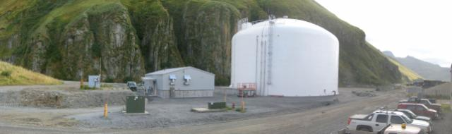 Leachate Flow Leveling Tank at Landfill